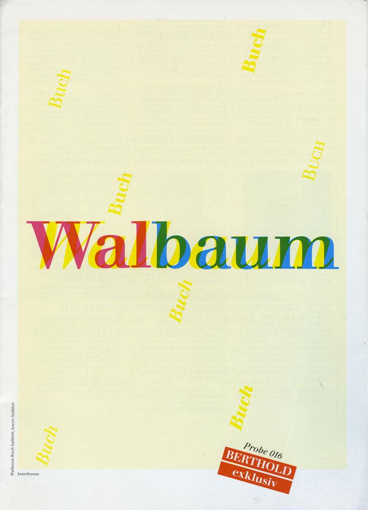 """H. Berthold AG: """"Walbaum"""", Berthold exklusiv type specimen 016, undated"""
